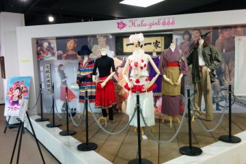 <p>Costumes and actor autographs from the 2006 Hula Girls movie are displayed in this part of the museum.&nbsp;</p>