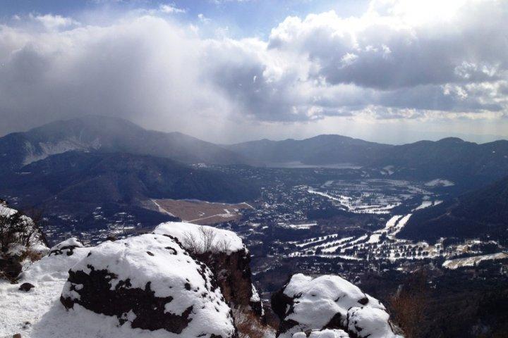 Snow covered Mt.Kintoki