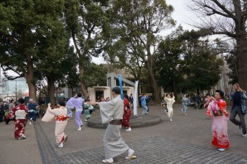 <p>มีงานแสดงที่ ueno park</p>