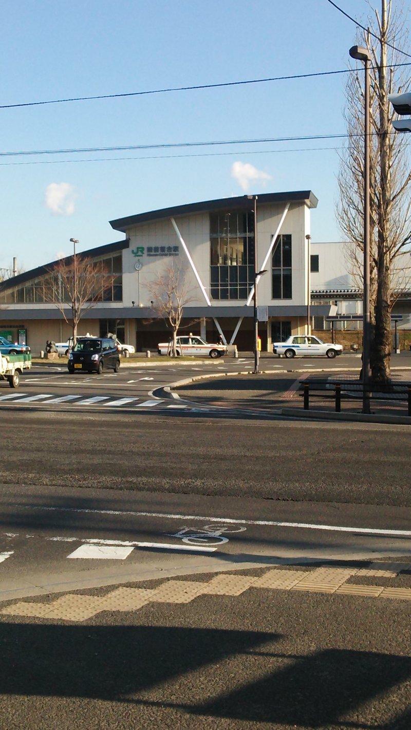 <p>Your ramen adventure begins upon arrival at Ochiai-Rikuzen&nbsp;Station.&nbsp;</p>