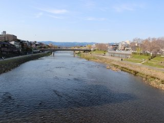 The upper reaches of the Kamogawa River