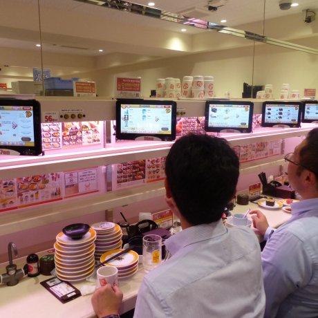 Genki sushi ซูชิรถไฟในชิบูย่า