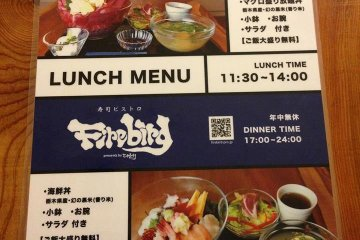 <p>Lunch menu - only one option to choose from</p>