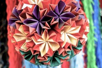 종이접기로 만든 장식품