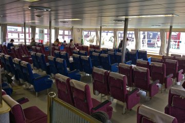 <p>The interior view of the Tokyo Wan Ferry from the Kurihama&nbsp;Ferry Terminal in Kanagawa.</p>