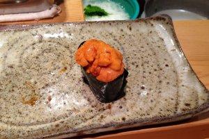 My husband's favorite: uni (sea urchin)