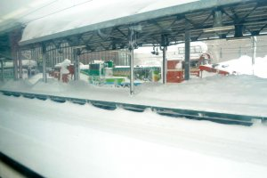Platforms loaded with snow