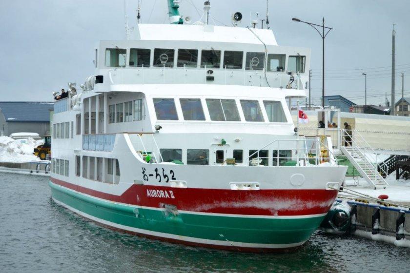 The Aurora sightseeing boat