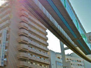 How cool is this? The City of Chiba, Japan, has modernized its infrastructure by implementing a suspended monorail to avoid traditional train tracks crossing busy streets or crosswalks.