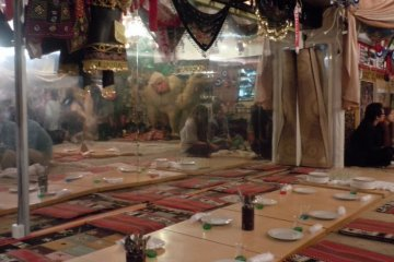<p>A party of about a dozen diners sat at this area soon after we arrived</p>