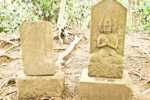 First of a series of Buddhist stone carvings