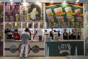 Japanese craft beer booths.