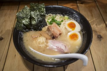 <p>Second day: The tonkotsu ramen, served with the softest pork belly, runny egg yolks and delicious tonkotsu broth.</p>