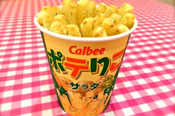 <p>#1 Seller: Jagarico Salad. At Calbee+ you can enjoy them while they&#39;re hot for &yen;250!&nbsp;The fried steamed potatoes have a crispy texture and pronounced potato flavor. Easy to hold and fingers won&#39;t get dirty or sticky.&nbsp;</p>