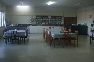 Kawasan makan di Hostel