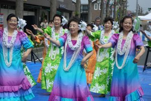 The festival had a variety of performances, including hula dancers, singers and the local high school band.