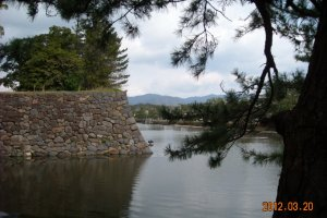 Matsue Castle outer wall and moat
