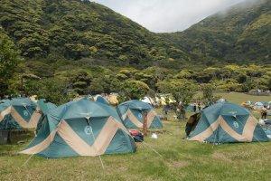 The free campsite opposite Habushiura beach.