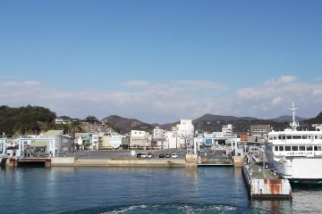 <p>Farewell mainland! We&#39;re on our way.</p>