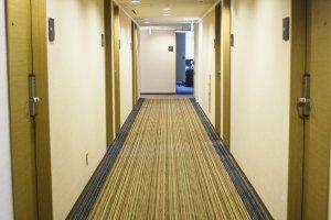 Down the hallway on the 8th floor
