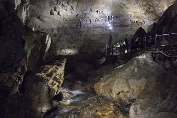 <p>More stairs up the cave.</p>