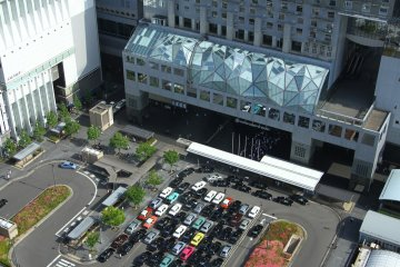 <p>Kyoto Station from up above</p>