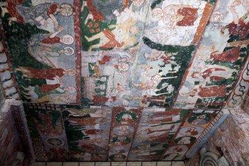 <p>Closer look at the St. Theodore fresco, Cappadocia, Turky</p>