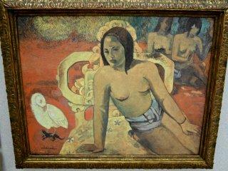 ポール・ゴーギャンの「ヴァイルマティ」。オリジナルはパリのオルセー美術館にある