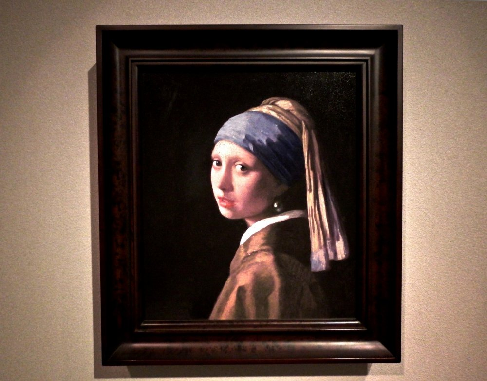 Girl with a Pearl Earring by Jan Vermeer. The original is in the Mauritshuis, Netherlands