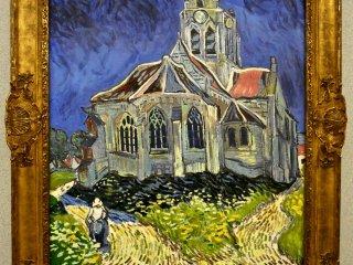 フィンセント・ファン・ゴッホの「オーヴェールの教会」。オリジナルはパリのオルセー美術館蔵