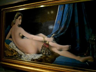 Grande Odalisque by Jean-Auguste-Dominique Ingres. The original is exhibited in The Louvre in Paris