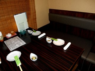 Private table for 4. There are various rooms for small group to large group