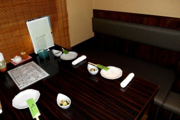 <p>Private table for 4. There are various rooms for small group to large group</p>