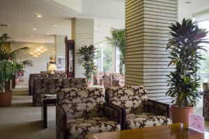 Lobby area in the Misasa Royal Hotel