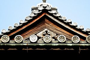 Rooftop of Hokoji Temple's belfry