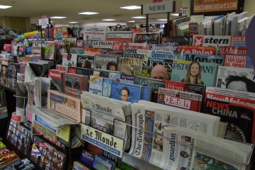 <p>Wide collection of global newspapers and magazines</p>
