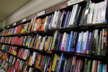 <p>Rows and rows of books</p>