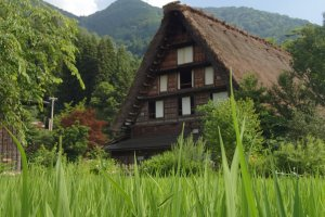 Gassho-zukuri house that you can find in the villages of Shirakawa-go and Gokayama.