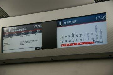 <p>จอ LCD แสดงข้อมูลการเดินรถ</p>