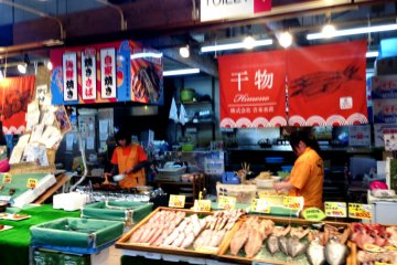 """The Maizuru Port 'Tore Tore"""" Seafood and Fish Markets are just a short drive or bus ride from Nishi MaizuruRailway Station with good connections with theMaizuruInternational Cruise Ship Terminal"""