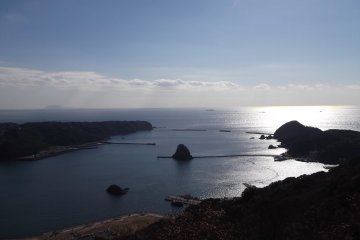 <p>The view from Mount Nesugata above Shimoda</p>