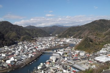 <p>The view of Shimoda&nbsp;from Mount Nesugata</p>