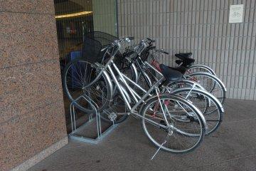 <p>The bikes</p>