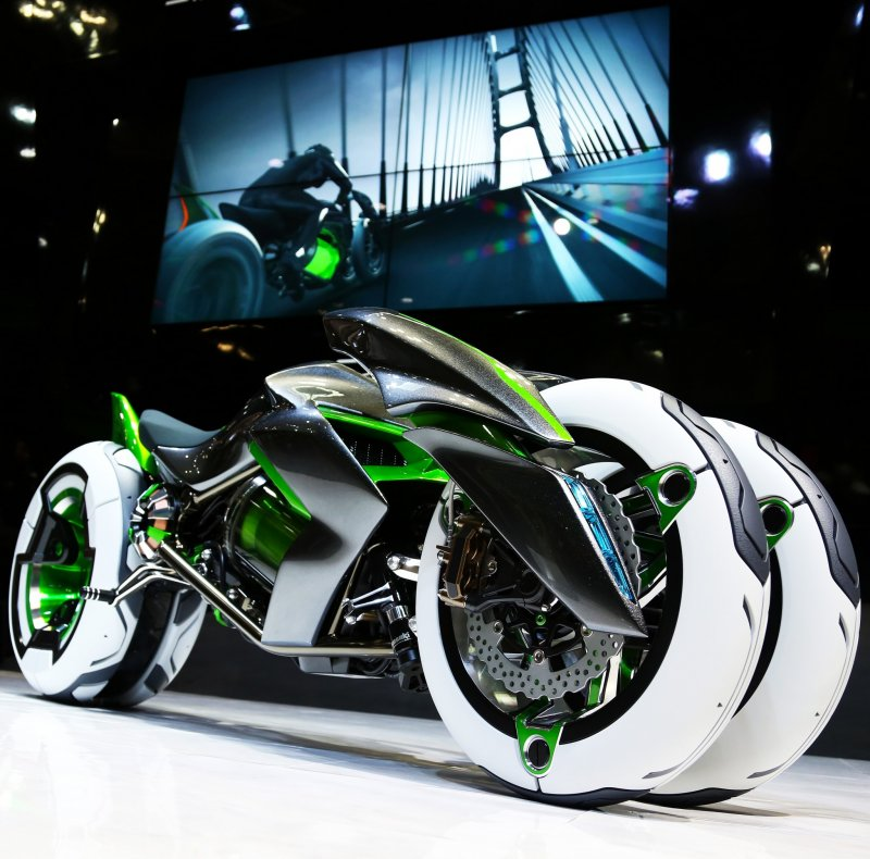 This amazing bike is a real offering from Kawasaki and it's actually street legal.