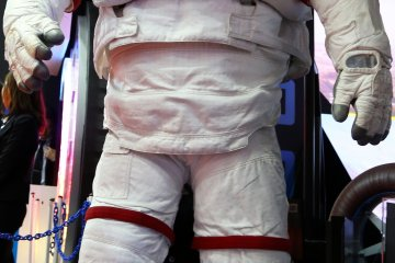I'm not sure why there was a real space man suit at the show but it goes to show you can find almost anything at the car show.