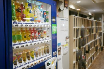 <p>Drinks are available all the time from the vending machine!&nbsp;</p>