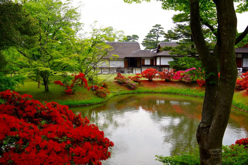 The Shoin moon viewing spot beyond the pond