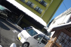 Partial outside view -- it is a strange angle because of the ryokan being on a small street
