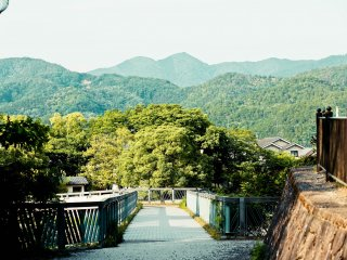 A wonderful view of Kyoto's surrounding hills.