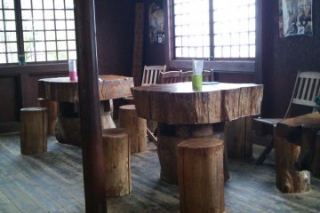 <p>The small dining area is bright and pleasant</p>